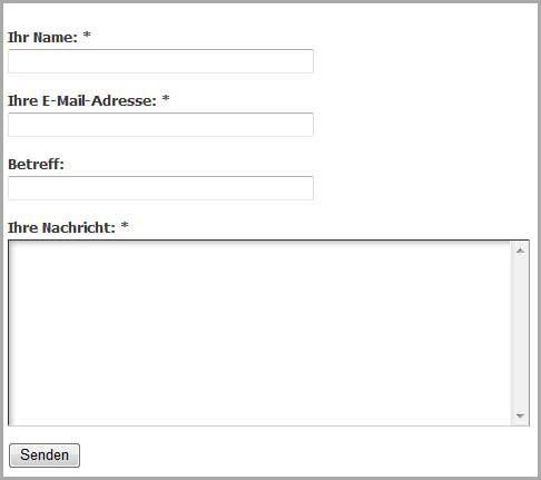 Standardformular von Contact Form 7