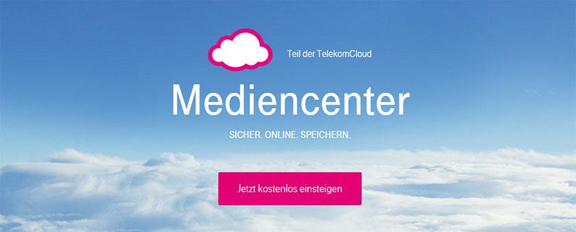 Das Mediencenter von T-Online - praktisch als Online-Speicher und E-Mail-Account für Webworker