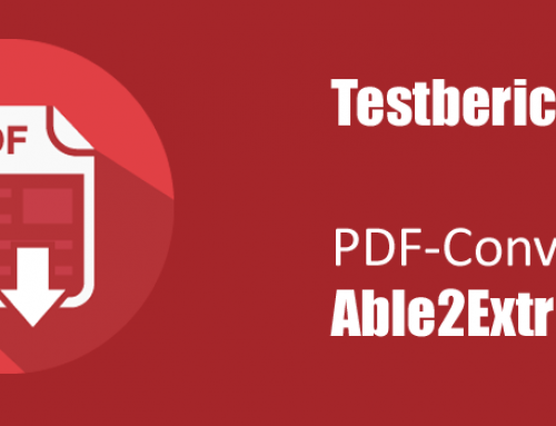 PDF-Converter Able2Extract: Softwaretest von Able2ExtractProfessional 12