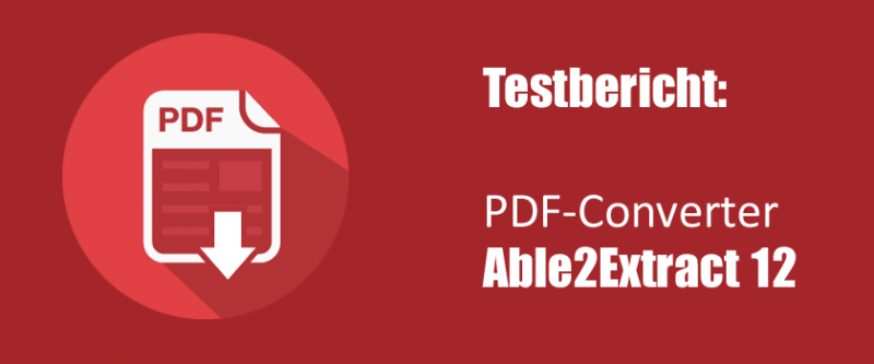 Softwaretest von Able2ExtractProfessional 12