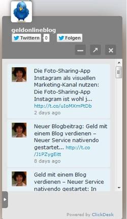 Social Media im Chat-Widget von ClickDesk