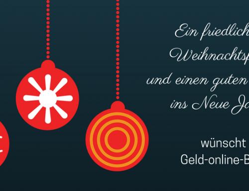 Frohe Weihnachten 2016 wünscht Geld-online-Blog