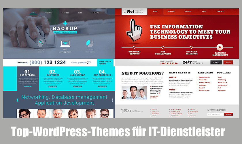 10 Top WordPress-Themes für IT-Dienstleister
