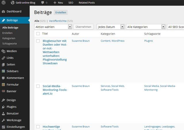 Flat Design des Admin-Bereiches in WordPress