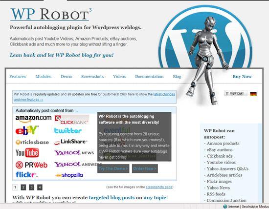 Amazon-Produkte mit WP Robot in Blogbeiträge einfügen