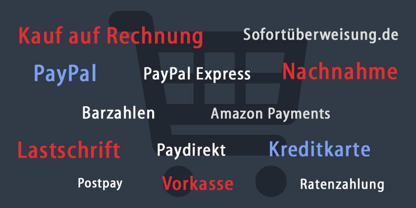 Wichtige Zahlungsarten im Online-Shop